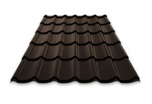 Chocolate brown steel roof sample monterrey_rr32