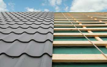 Metal roof repair installation