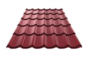 Wine red steel roof sample monterrey_rr29
