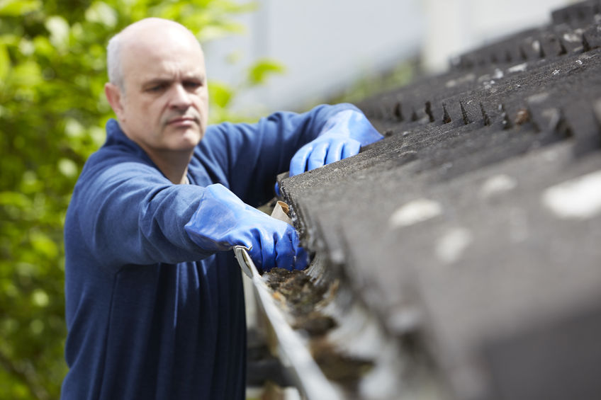 Gutter maintenance performed by professional