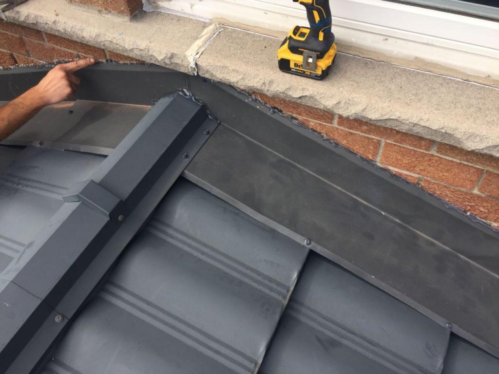 Coating for metal roof sidewall