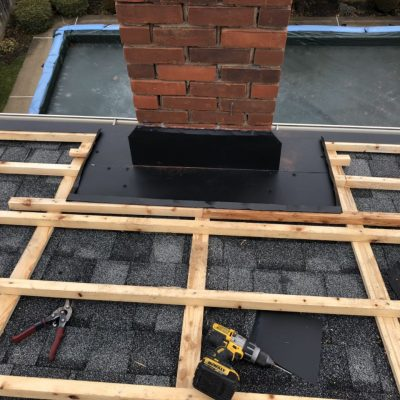 Metal Roof Flashing Joists Installation