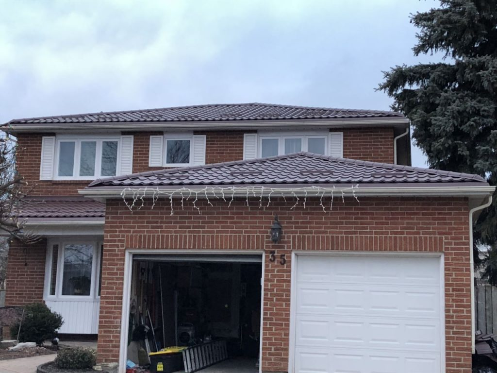 Red Metal Roof Installed