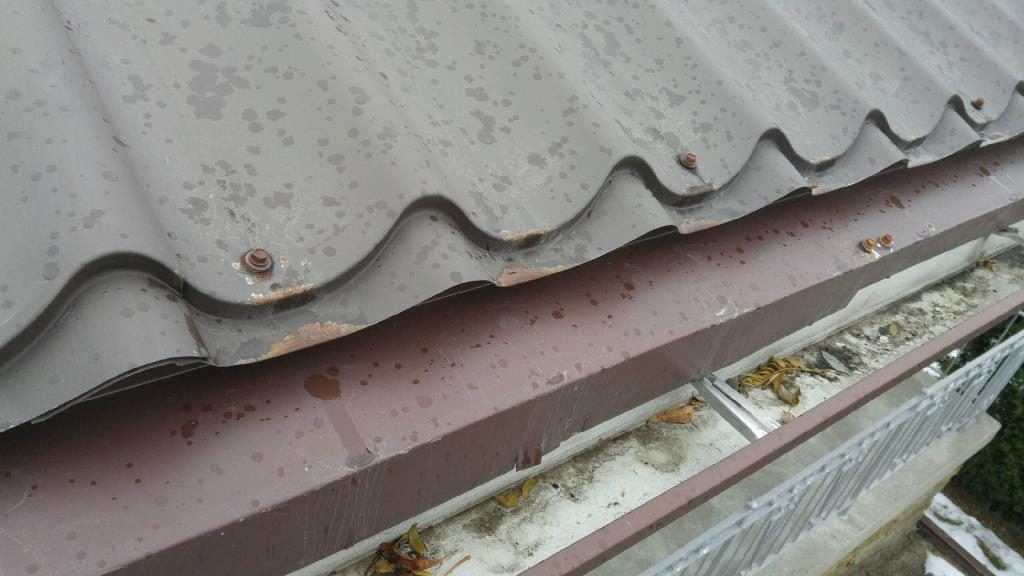 Rust on metal roof