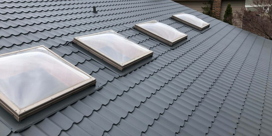 Sun windows installed in new steel roof