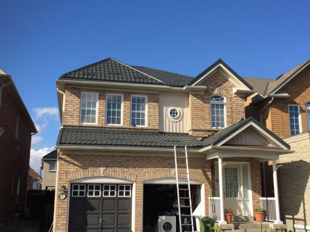 Metal Roofing Replacement in Progress by Dream Roof Markham
